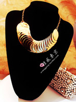 Wholesale High Quality Sexy Fashion Gold Chain Metal Circle Personality Necklaces
