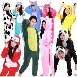 Wholesale Animal onesie Hoodie Unisex costume Kigurumi fleece mascot Pajamas Sleepwear