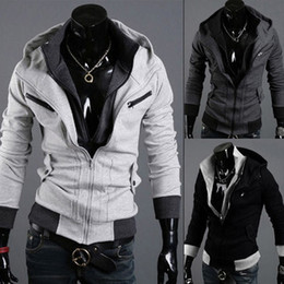 Wholesale Hot Assassin s Creed Desmond Miles Hoodie Costume Coat Jacket Cosplay Hoody