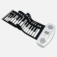 Wholesale Digital electronic roll up rolling musical folding piano tones and rhythms Keys