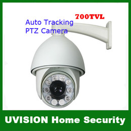Wholesale 700TVL SONY EFFIO CCD x Outdoor CCTV PTZ IR Camera Auto Tracking Heater Fan M IR Distance With RS DHL