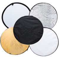 Wholesale 32 quot cm in New Portable Collapsible Light Round Photography Photo Reflector for Studio D860