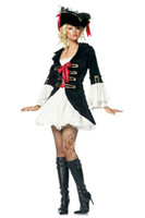 adult pirate halloween costumes - 2013 Halloween pirate witch game uniform Cosplay DS sexy adult halloween costumes carnival costume