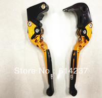 Wholesale NEW CNC Foldable Extendable Brake Clutch Levers For SUZUKI GSXR GOLD