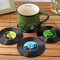 Wholesale Novelty Hot Vinyl Silicone Record Drink Coasters Cup Mats disc Heat pad heat proof mat Pads