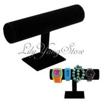 Wholesale Tier Jewelry Hard Display Stand Holder Bracelet Chain Bangle Watch T bar Rack