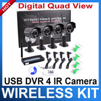 Wholesale Digital Ghz Wireless Night Vision waterproof Camera Security CCTV DVR Kit Support WIN7 bit