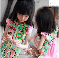 Wholesale summer children clothes new style Bohemia wind georgette little Fly sleeve girls shirts kids shirt Picture color size