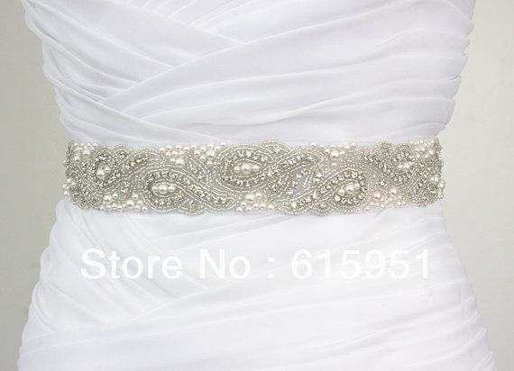 Online cheap jy365 generous wedding dress belt with pearl for Wedding dress beading patterns