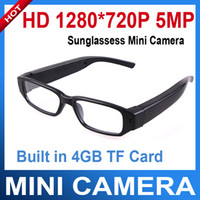 Wholesale HD x P MP CMOS Sunglasses Hidden Mini Camera with GB SD Card