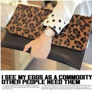 Summer Fashion Big Size Clutch Women Leopard Handbag Girls Tote ...