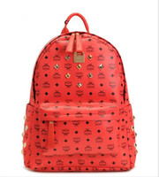Wholesale New Spring Fashion Classic MCM Large STARK BACKPACK VISETOS Shoulder Backpack Bag Rain girlhood Love Backpack Bag colors