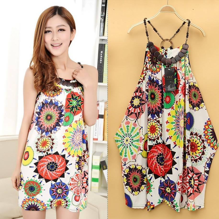 Hot Sale Womens Ladies Nice Sweet Bohemia Backless Casual Dress ...