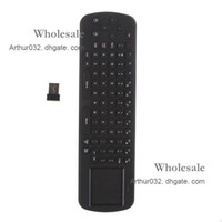 Wholesale Newest Arrival Mini RC12 Fly Air Mouse Mouses Wireless Keyboard with Remote Control G for Android TV Box MK802 UG802 MK808