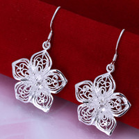 Silver bags amethyst jewelry - 925 Sterling Silver Cross Jewelry Earings gift box bag Brand New e035
