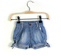 Plain Christmas Girl Blue Denim Shorts Toddler Clothes Fashion Jeans Kids Casual Pants Summer Shorts Infant Wear Hot Pants Short Jeans Girls Shorts Baby Clothing
