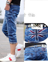 Wholesale D1606 Casual Wear white Style Men s shorts Jeans