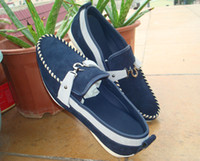 Fur Yes Genuine Leather Qf2013-70d Navy The factory price sales Wholesale man casual shoes material:OX fur(Nubbuck) customized boxsize,1pairwelcome,, MOQ