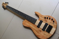 Wholesale 6 strings electric bass guitar natural one piece body Chinese guitar