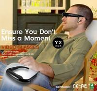 Wholesale New quot inch Virtual Digital Video Theater Eyewear Glasses AV input Wide Screen