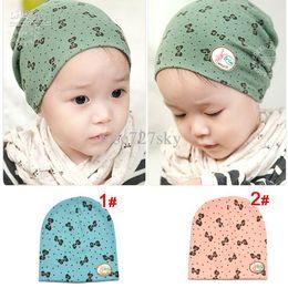 Wholesale Popular Children s cap Newborn cap Infant hat Lovely bowknot style Beanie Skull Cap Can mix colors