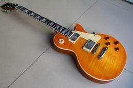 Wholesale 1959 Reissue VOS Lemon yellow Burst electric guitar 120105