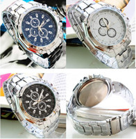 Wholesale Fashion Man Wrist Watch Stainless Steel fashion eyes Watch with Quartz Movement