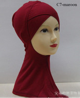 Wholesale H001 lastest crossover ninja underscarf muslim hijab fast delivery mixed colors