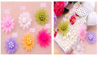 Wholesale retail DIY lovely pearl flower beads for cellphone mobile phone cases scrapbook jewelry decorations nail art gift craft tools