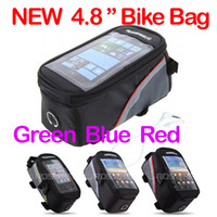 Wholesale Waterproof Cycling Bike Bicycle Frame Front Tube Bag For Cell Phone inch New design bag Freeshipping dropshipping