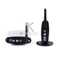 Wholesale 2 GHz Wireless A V TV Audio Video Transmitter Receiver PAT With IR Signal Extender M for DVD DVR Camer IPTV