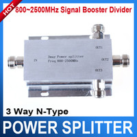 UTK- N-1TO3 3g signal booster - 3G signal booster Way N Type Power Divider Splitter MHz for GSM CDMA N TO3