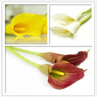 Christmas calla lily artificial flowers - PU calla lily artificial flowers silk flower artificial flowers