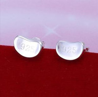 Stud   Wholesale ---Plated 925 sterling silver earrings the personalized pop pea earrings