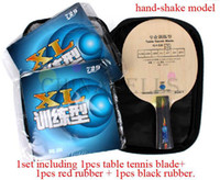 Wholesale original professional training type table tennis racquet Set table tennis blade rubbers