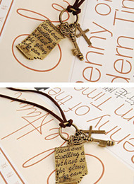Wholesale N025 jewelry manufacturers Shakespeare love letter cross key retro sweater chai