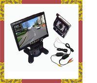 "Cheap NEW 7 ""LCD Monitor +2.4G Wireless 18 IR Reverse Camera Car Rear View Kit Car camera free"