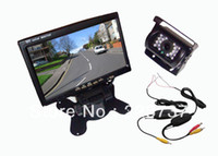 "Cheap The new 7 ""LCD Monitor Car Rear View Kit Wireless 2.4GHz 18 LED IR CCD Reverse Camera Free Shipping"
