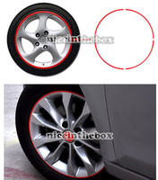Wholesale Good Strips Red Reflective Car Motorcycle Rim Stripe Wheel Tape Stickers