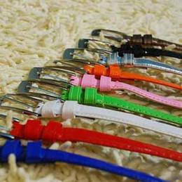 Cinturones de cuero en Línea-las mujeres nuevo estilo correa del color del caramelo de la correa fina del todo-fósforo japanned super brillante correa de cuero 20pcs / lot liberan el envío t5156