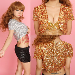 Wholesale 2013 Fashion Sequined Jacket Performance Stage Nightclubs Wild Short sleeved Shawl Jackets