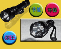 Wholesale LLFA97 Lumen Mode CREE Q5 LED Flashlight Rechargeable LED Torch Car charger Portable Charger mah Battery