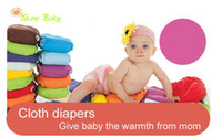 Wholesale New Colors Available One Size Adjustable Baby Washable Cloth Diapers Cloth Nappy Inserts
