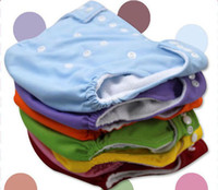 Wholesale Wholesle New Colors Available One Size Adjustable Baby Washable Cloth Diapers Cloth Nappy Inserts