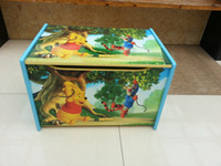 Wholesale Disney toy boxes Winnie the Pooh s toy boxes wooden boxes ID DWHX00035 min order