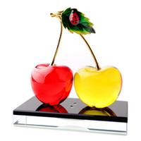 Liquid car perfume - Popular Cherry Crystal Perfume Bottle Glass Essential Oil Vials Interior Decoration for Car DC102