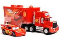 Wholesale Only trucks Pixar Cars alloy and plastic McQueen toy car plastic Mack truck toy