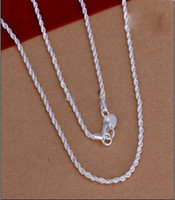 Wholesale Fashion Jewelry sterling silver mm Twist ROPE CHAIN Necklace inch inch inch inch inch