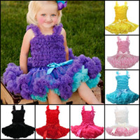 Wholesale Baby girls tutu dress set girls Lace Top Chiffon Pettiskirt pc a set children dress kids dress girls princess christmas skirt