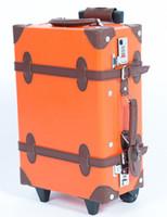 Wholesale Fashion women s vintage travel bag trolley luggage bag luggage suitcase
